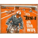 BSA  motorcycles all the way vintage metal tin sign poster wall plaque