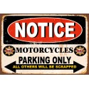 BSA motorcycle parking vintage metal tin sign poster wall plaque