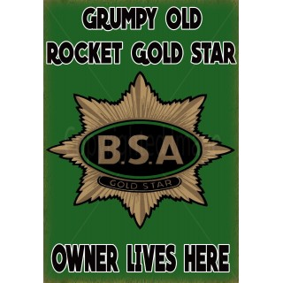 bsa-rocket-gold-star-motorcycle-vintage-metal-tin-sign