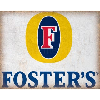 Fosters Beer vintage alcohol metal tin sign poster