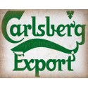 Carlsberg Beer vintage alcohol metal tin sign poster