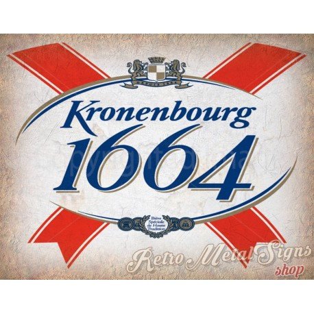 kronenbourg-1664-beer-metal-tin-sign