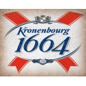 Kronenbourg 1664 Beer vintage alcohol metal tin sign poster