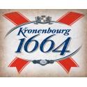 Kronenbourg 1664 Beer vintage alcohol metal tin sign poster