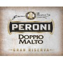 Peroni Dopplo Beer vintage alcohol metal tin sign poster