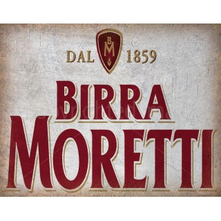 Birra Moretti Italian Beer vintage alcohol metal tin sign poster