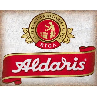 Aldaris Beer Riga vintage alcohol metal tin sign poster