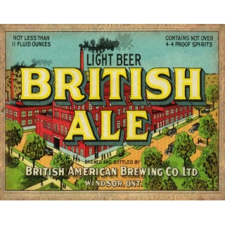 Light Beer British Ale-beer-metal-sign