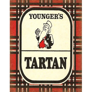 Youngers Tartan beer vintage alcohol metal tin sign poster