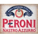 Peroni Beer vintage alcohol metal tin sign poster