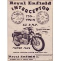 Royal Enfield Interceptor motorcycle vintage metal tin sign poster wall plaque