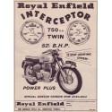 Royal Enfield Interceptor motorcycle vintage metal tin sign poster wall plaque