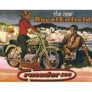 Royal Enfield Rusader 250 motorcycle vintage metal tin sign poster wall plaque