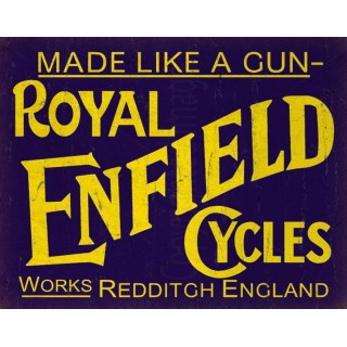 Royal Enfield Cycles  vintage metal tin sign poster wall plaque
