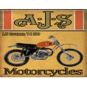 AJS Stormer Y4 250 motorcycle vintage metal tin sign poster wall plaque