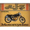 AJS 7R 1948   motorcycle vintage metal tin sign poster wall plaque