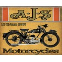 AJS M Series 250SV motorcycle vintage metal tin sign poster wall plaque