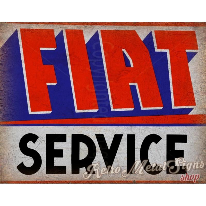 Retro replica vintage style metal tin sign gift garage Classic Car Fiat 500