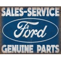Ford Service vintage metal tin sign wall plaque