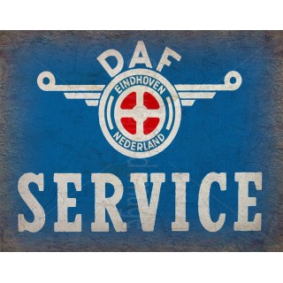 daf-service-vintage-metal-tin-sign-wall-plaque