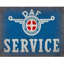 Daf Service vintage metal tin sign wall plaque