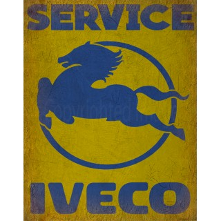 Iveco Service vintage metal tin sign wall plaque