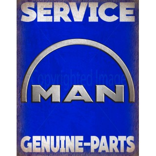 man-trucks-service-vintage-metal-tin-sign