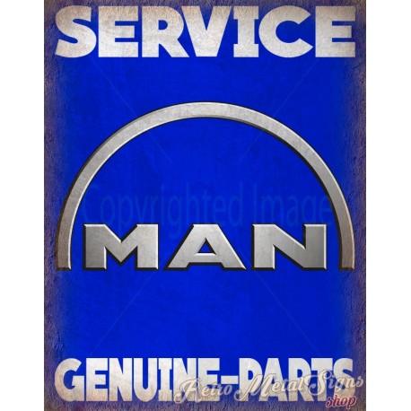 man-trucks-service-vintage-metal-tin-sign