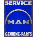 Man Trucks Service vintage metal tin sign wall plaque