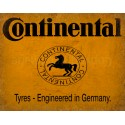 Continental Tyre Service vintage metal tin sign wall plaque