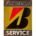 Bridgestone Tyre Service vintage metal tin sign wall plaque