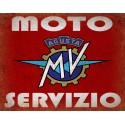 Agusta Motorcycles Service vintage metal tin sign wall plaque