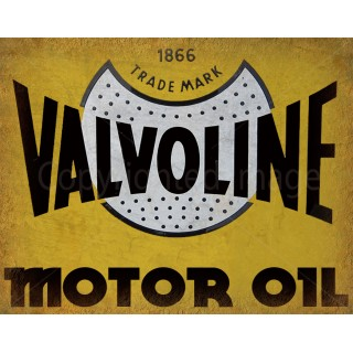 Valvoline Motor Oil vintage metal tin sign wall plaque