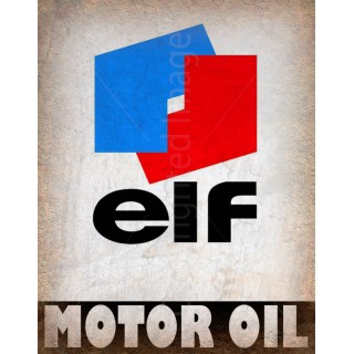 Elf Motor Oil vintage metal tin sign wall plaque