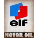 Elf Motor Oil vintage metal tin sign wall plaque