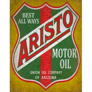 Aristo Motor  Oil vintage metal tin sign wall plaque