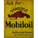 Mobiloil Gargoyle  Motor Oil vintage metal tin sign wall plaque