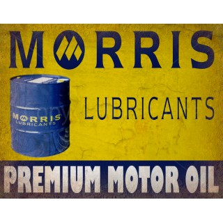 Morris Lubricants Motor Oil vintage metal tin sign wall plaque