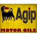 Agip Motor Oil vintage metal tin sign wall plaque