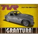 TVR Grantura vintage metal tin sign wall plaque