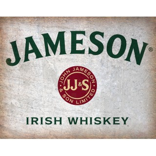 John Jameson Irish whiskey vintage alcohol metal tin sign poster