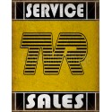 TVR Service vintage metal tin sign wall plaque