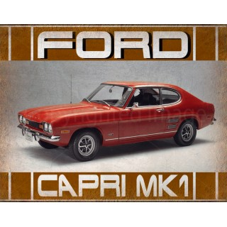 Ford Capri mk1  vintage metal tin sign wall plaque
