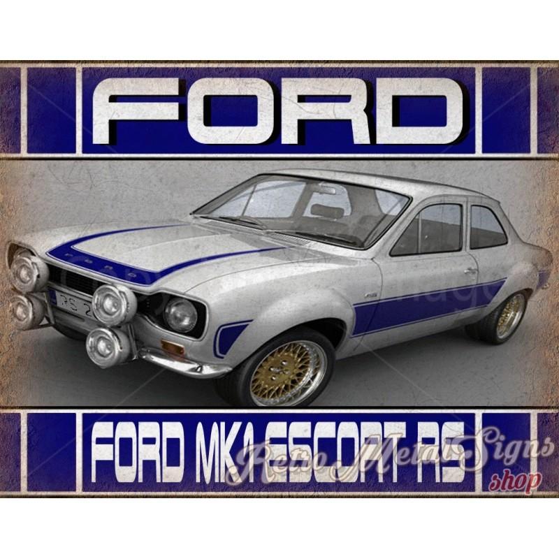 sinal Placa de Metal Retrô o Ford Escort R.s História