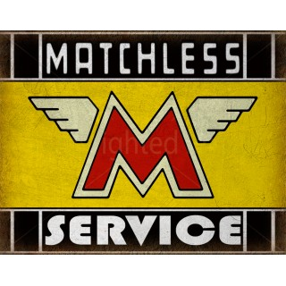 Matchless   motorcycles sales service vintage metal tin sign poster