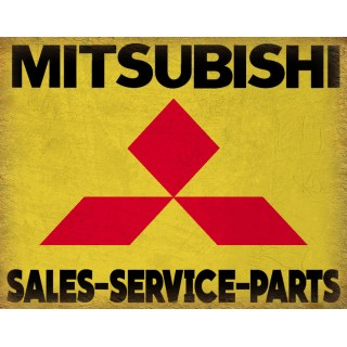 mitsubishi-service-vintage-metal-tin-sign