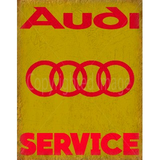 Audi Service vintage metal tin sign wall plaque
