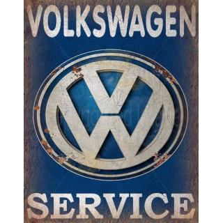 Volkswagen Service vintage metal tin sign wall plaque