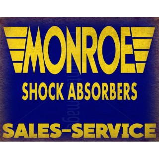 Monroe Shock Absorbers vintage metal tin sign wall plaque