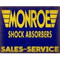 Monroe Shock Absorbers vintage metal tin sign wall plaque